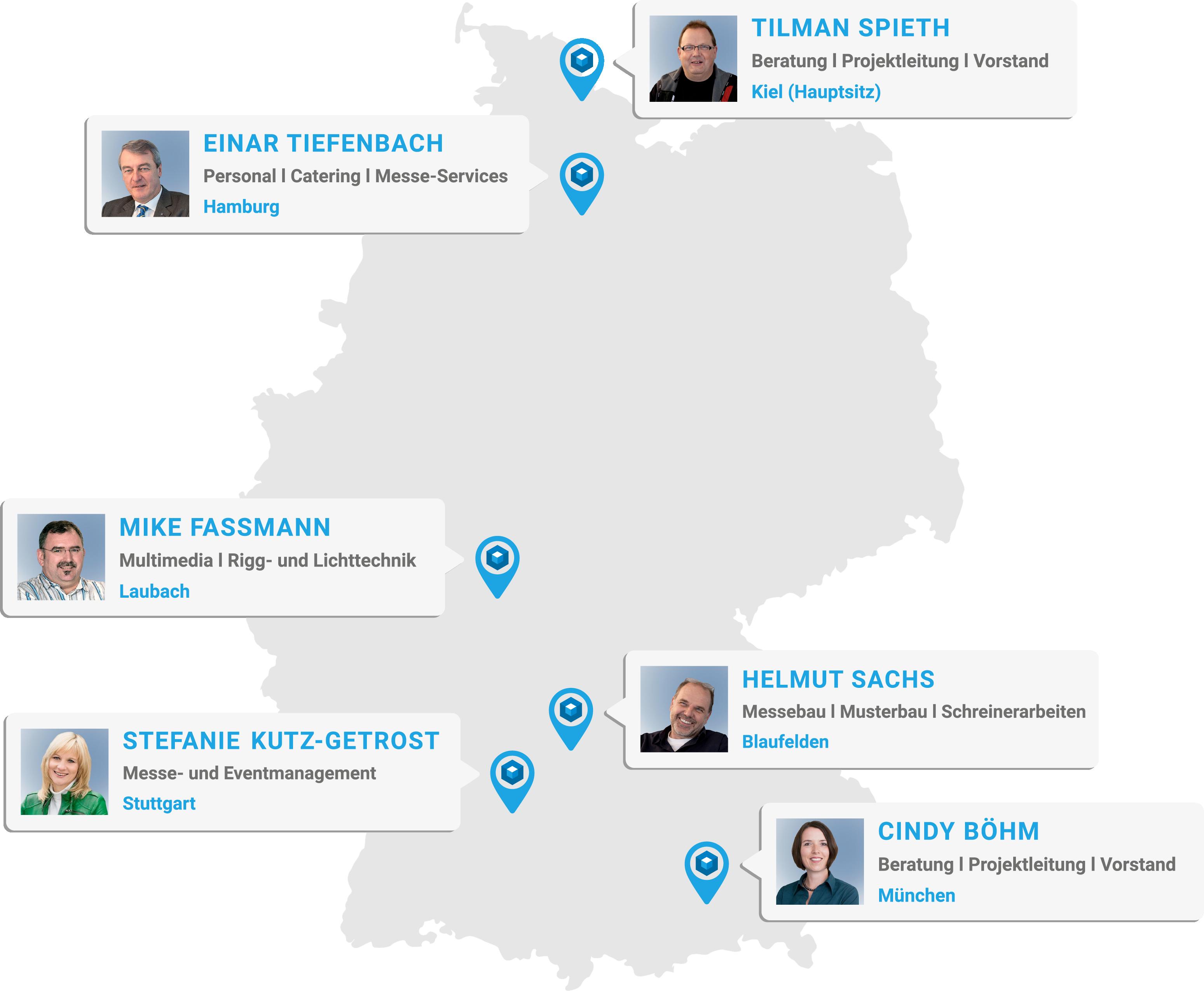 Projektraum Standorte in Deutschland